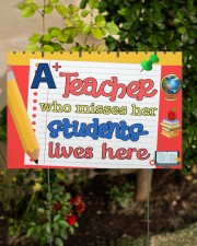 A Teacher Who Misses Her Students Lives Here 18x12 Yard Sign aos-yard-sign-18x12-lifestyle-front-06