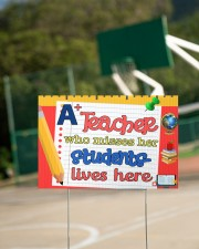 A Teacher Who Misses Her Students Lives Here 18x12 Yard Sign aos-yard-sign-18x12-lifestyle-front-18