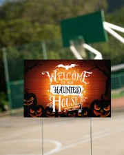 Welcome To Our Haunted House 18x12 Yard Sign aos-yard-sign-18x12-lifestyle-front-18