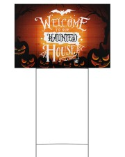 Welcome To Our Haunted House 18x12 Yard Sign front