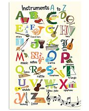 Instruments Alphabet A to Z Poster 11x17 Poster front