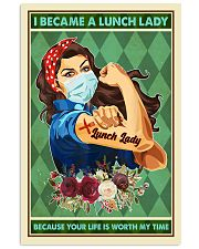 I Became A Lunch Lady Teacher Poster 11x17 Poster front