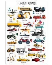 Teacher Transport Alphabet 11x17 Poster front