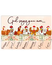 Chicken God Say You Are 17x11 Poster front