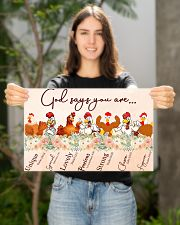 Chicken God Say You Are 17x11 Poster poster-landscape-17x11-lifestyle-19