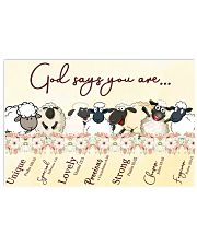 Sheep God Say You Are 17x11 Poster front
