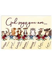 Otter God Say You Are 17x11 Poster front