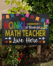 Honk A Wonderful Math Teacher Lives Here 18x12 Yard Sign aos-yard-sign-18x12-lifestyle-front-06