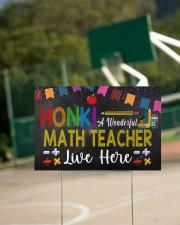 Honk A Wonderful Math Teacher Lives Here 18x12 Yard Sign aos-yard-sign-18x12-lifestyle-front-18