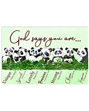 Panda God Say You Are 17x11 Poster front