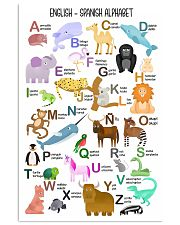 English Spanish Of Children Alphabet Poster 11x17 Poster front