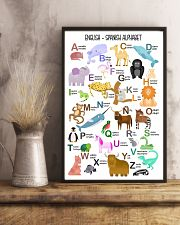 English Spanish Of Children Alphabet Poster 11x17 Poster lifestyle-poster-3