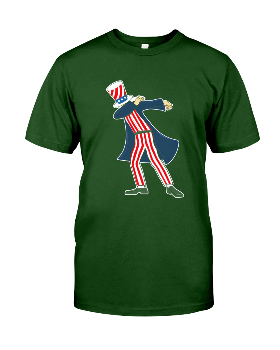 Dabbing Patriot Fourth Of July T Shirt 78 Classic T-Shirt