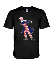 Dabbing Patriot Fourth Of July T Shirt 78 V-Neck T-Shirt thumbnail