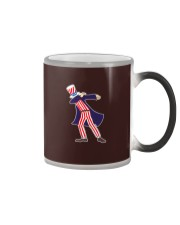 Dabbing Patriot Fourth Of July T Shirt 78 Color Changing Mug thumbnail