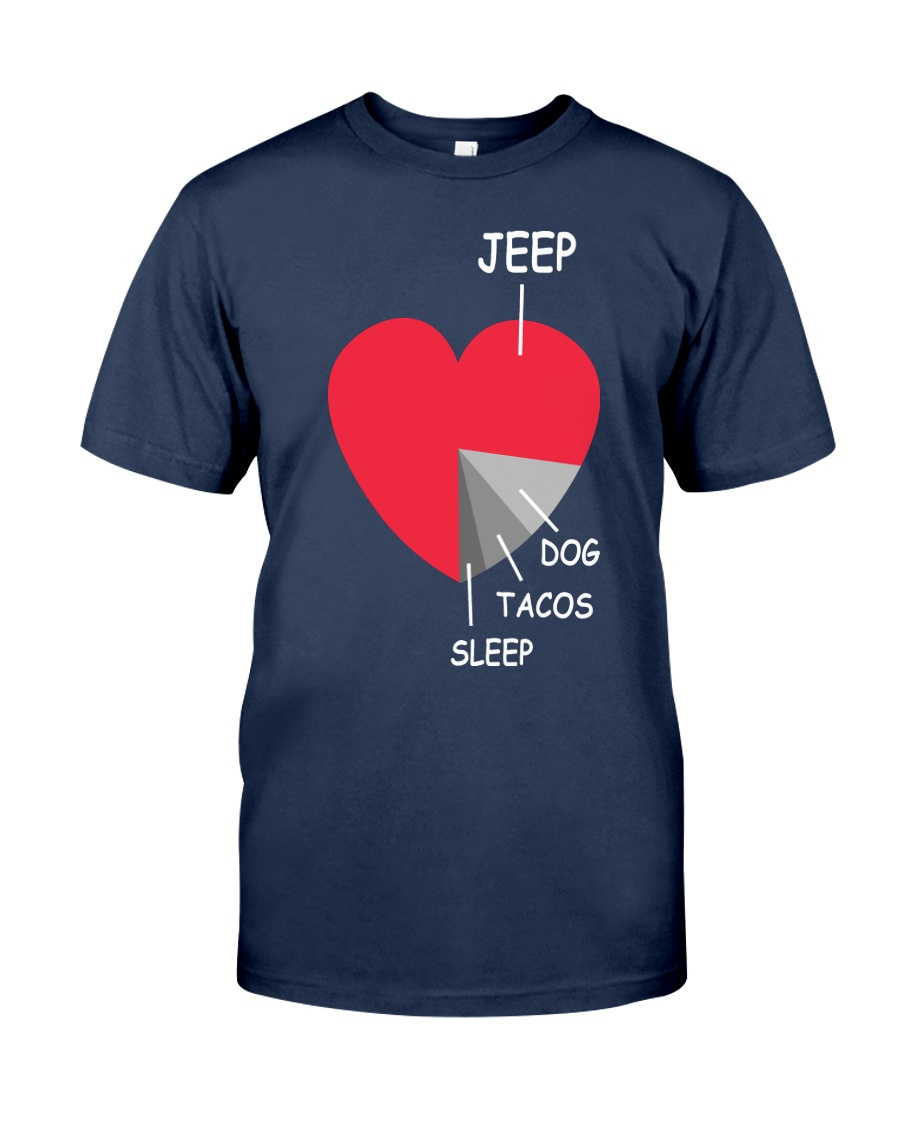 funny heart 4x4 DOG  Tacos Classic T-Shirt