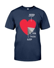 funny heart 4x4 DOG  Tacos Classic T-Shirt front