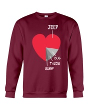funny heart 4x4 DOG  Tacos Crewneck Sweatshirt tile