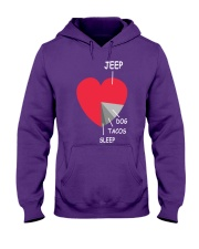 funny heart 4x4 DOG  Tacos Hooded Sweatshirt thumbnail