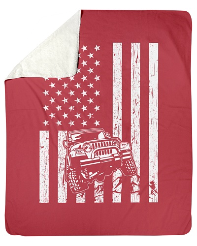 Off-roading American Flag 4x4 DecaL