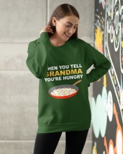 when you tell your grandma youre hungry Crewneck Sweatshirt apparel-crewneck-sweatshirt-lifestyle-front-14