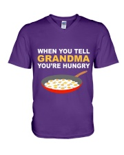when you tell your grandma youre hungry V-Neck T-Shirt thumbnail