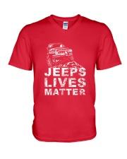4x4 lives matter  V-Neck T-Shirt thumbnail