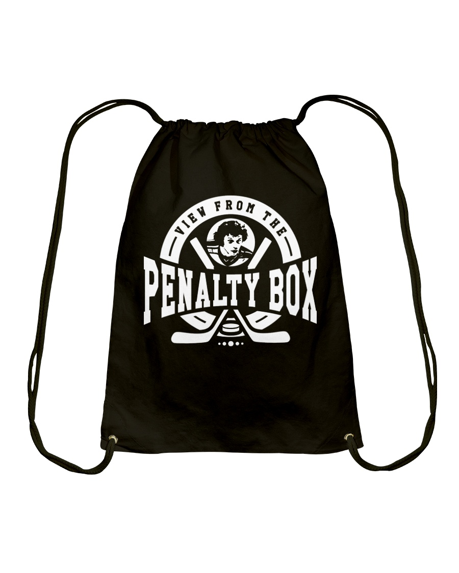 View from the Penalty Box Merchandise Drawstring Bag