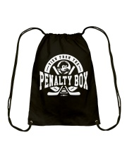 View from the Penalty Box Merchandise Drawstring Bag front