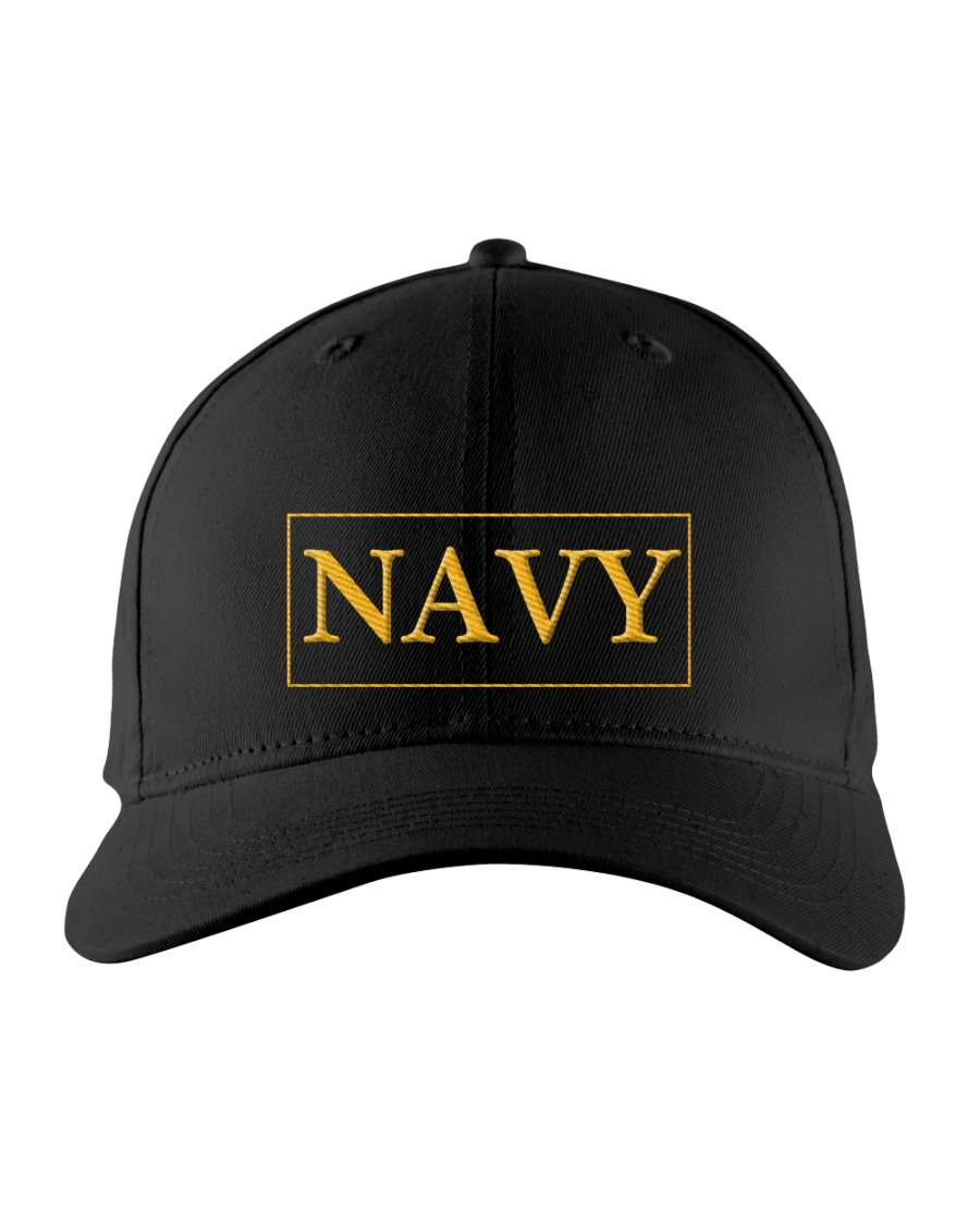 Navy Cap  Embroidered Hat