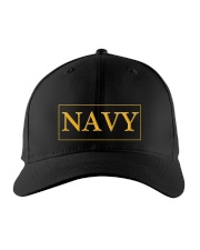 Navy Cap  Embroidered Hat front
