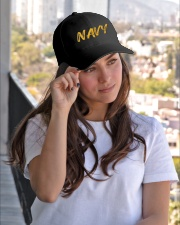 Navy Hat Embroidered Hat garment-embroidery-hat-lifestyle-03