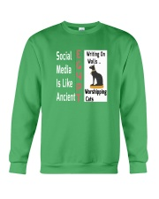 Social Media Is Like Ancient Egypt Crewneck Sweatshirt thumbnail