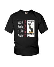 Social Media Is Like Ancient Egypt Youth T-Shirt thumbnail