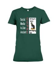 Social Media Is Like Ancient Egypt Premium Fit Ladies Tee thumbnail