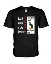 Social Media Is Like Ancient Egypt V-Neck T-Shirt thumbnail