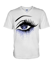 all-cancer-lavender-620 V-Neck T-Shirt thumbnail
