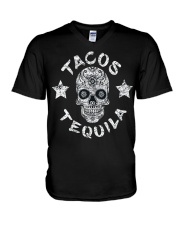 TACOS AND TEQUILA FUNNY CINCO DE MAYO DAY SHIRT V-Neck T-Shirt thumbnail