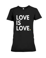 LGBT Gay Marriage Shirt - Love Is Love- Gay Pride  Premium Fit Ladies Tee thumbnail