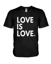 LGBT Gay Marriage Shirt - Love Is Love- Gay Pride  V-Neck T-Shirt thumbnail
