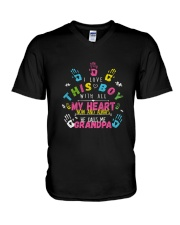 HE CALL ME GRANDPA AUTISM AUTISM DAY SHIRT V-Neck T-Shirt thumbnail