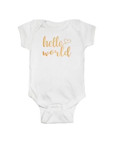 Hello World Onesies Bodysuits For Newborn Kids