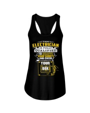 THIS ELECTRICIAN IS FULLY QUALIFIED Ladies Flowy Tank thumbnail