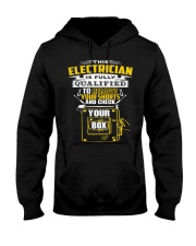 THIS ELECTRICIAN IS FULLY QUALIFIED Hooded Sweatshirt thumbnail