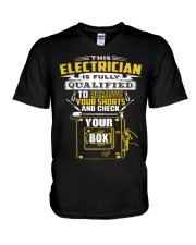 THIS ELECTRICIAN IS FULLY QUALIFIED V-Neck T-Shirt thumbnail