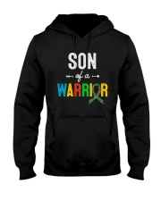 SON OF A WARRIOR AUTISM AWARENESS DAY SHIRT Hooded Sweatshirt thumbnail