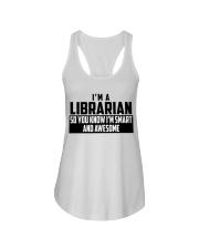 I'M A GANGSTA LIBRARIAN Ladies Flowy Tank thumbnail