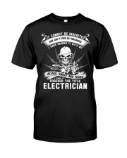 I OWN IT THE TITLE ELECTRICIAN Premium Fit Mens Tee front