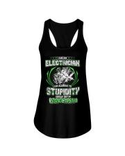 I AM AN ELECTRICIAN STUPIDITY Ladies Flowy Tank thumbnail