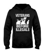 VETERAN BEFORE ILLEGALS SHIRT Hooded Sweatshirt thumbnail